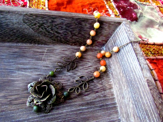 3 whimsical bohemian rose necklace