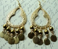 brass chandelier earrings 1