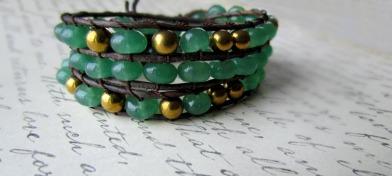 rondelle triple wrap bracelet