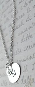 sterling silver m shamrock necklace 2