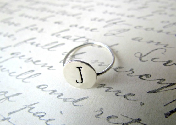 sterling silver J ring