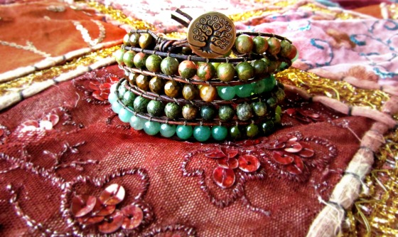 50 Shades of Green 5x Ombre Wrap Bracelet