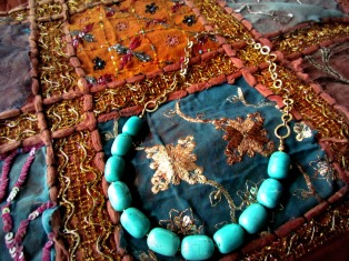 turquoise tube bead necklace 2