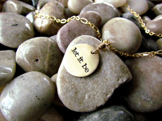 let it be hand stamped necklace