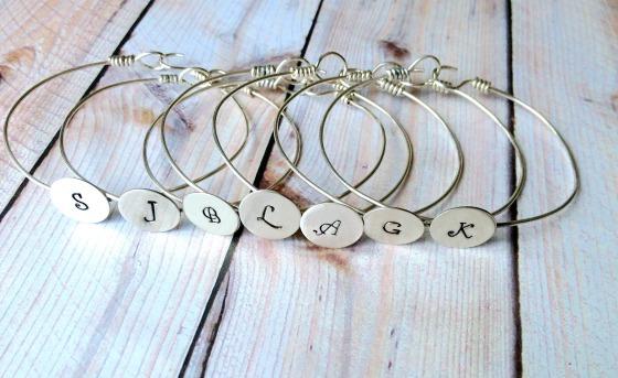 7 Sterling Silver Initial Bracelets