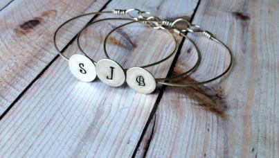 3 Sterling Silver Initial Bracelets