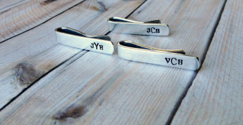 3 Tie Clips- Monogrammed
